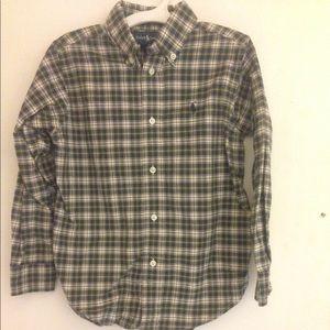 Ralph Lauren Polo PLAID Oxford Shirt Boys Sz 5